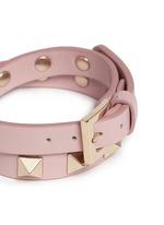 'Rockstud' double wrap leather bracelet