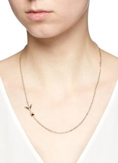 Valentino'Rockstud' single stud brass necklace