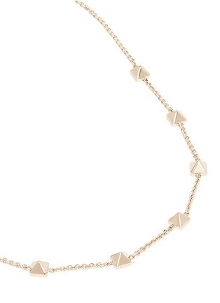 Detail View - Click To Enlarge - Valentino - 'Rockstud' brass choker necklace