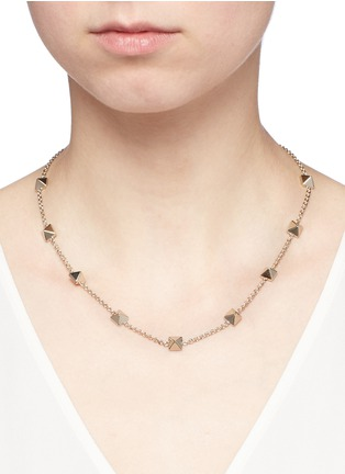 Figure View - Click To Enlarge - Valentino - 'Rockstud' brass choker necklace