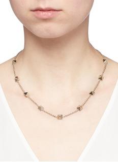 Valentino'Rockstud' brass choker necklace