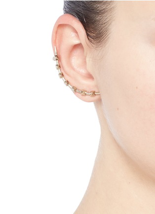 Figure View - Click To Enlarge - Valentino - 'Rockstud' single climber earring