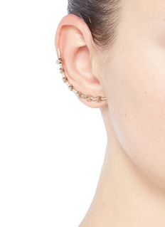 Valentino 'Rockstud' single climber earring
