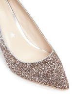 'Jess' dégradé coarse glitter pumps