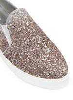 'Daly' dégradé coarse glitter skate slip-ons