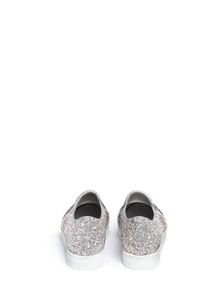 Back View - Click To Enlarge - Pedder Red - 'Daly' dégradé coarse glitter skate slip-ons