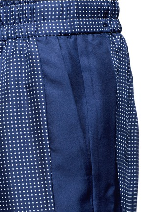 Detail View - Click To Enlarge - Equipment - 'Hadley' polka dot silk drawstring track pants