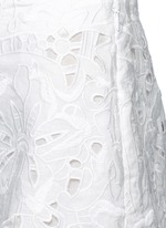 ''Micro E' floral cutwork embroidery linen-cotton shorts