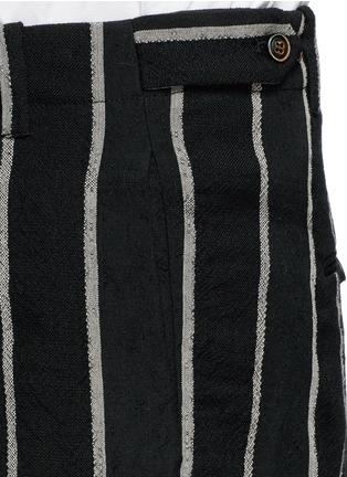 Detail View - Click To Enlarge - Uma Wang  - 'Vittorio' chalk stripe wool-linen wide leg pants