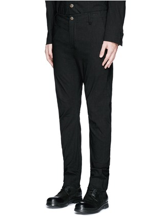 Front View - Click To Enlarge - Uma Wang  - 'Felix' slim fit stretch linen pants