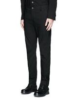 'Felix' slim fit stretch linen pants