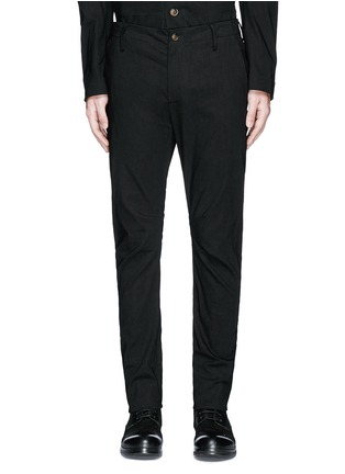 Main View - Click To Enlarge - Uma Wang  - 'Felix' slim fit stretch linen pants
