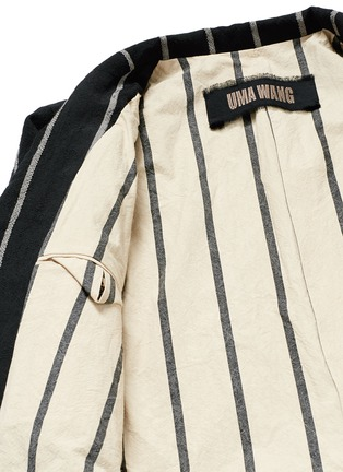 - Uma Wang  - 'Newspaper' chalk stripe wool-linen jacket