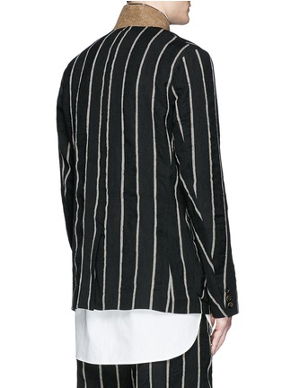 Back View - Click To Enlarge - Uma Wang  - 'Newspaper' chalk stripe wool-linen jacket