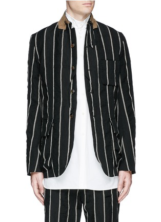 Main View - Click To Enlarge - Uma Wang  - 'Newspaper' chalk stripe wool-linen jacket