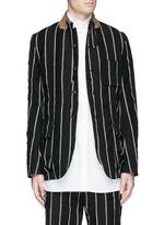 'Newspaper' chalk stripe wool-linen jacket