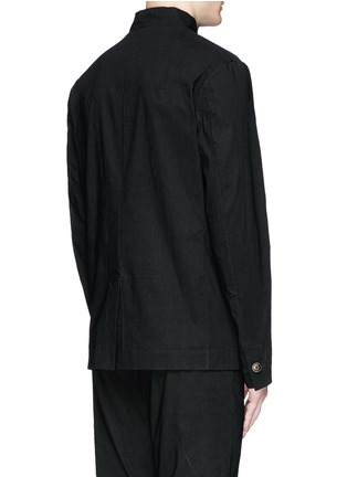 Back View - Click To Enlarge - Uma Wang  - 'Franco' stretch linen jacket