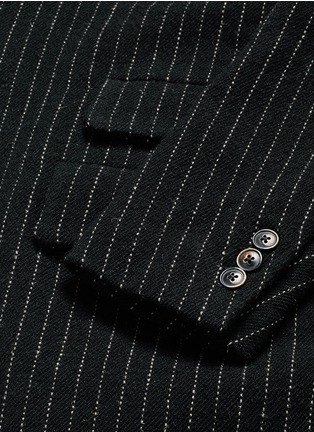 Detail View - Click To Enlarge - Uma Wang  - 'Tommaso' pinstripe wool cavalry twill coat