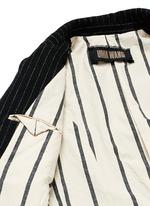 'Tommaso' pinstripe wool cavalry twill coat