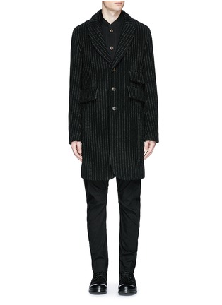 Main View - Click To Enlarge - Uma Wang  - 'Tommaso' pinstripe wool cavalry twill coat