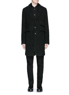 Uma Wang 'Tommaso' pinstripe wool cavalry twill coat