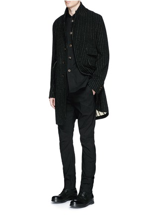 Figure View - Click To Enlarge - Uma Wang  - 'Tommaso' pinstripe wool cavalry twill coat