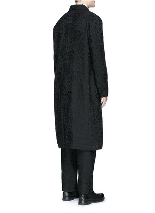 Back View - Click To Enlarge - Uma Wang  - 'Spolvero' floral jacquard cotton-linen-silk coat