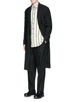 'Spolvero' floral jacquard cotton-linen-silk coat