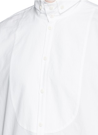 Detail View - Click To Enlarge - Uma Wang  - 'Martino' bib front cotton shirt