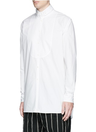 Front View - Click To Enlarge - Uma Wang  - 'Martino' bib front cotton shirt