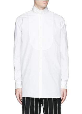 Main View - Click To Enlarge - Uma Wang  - 'Martino' bib front cotton shirt