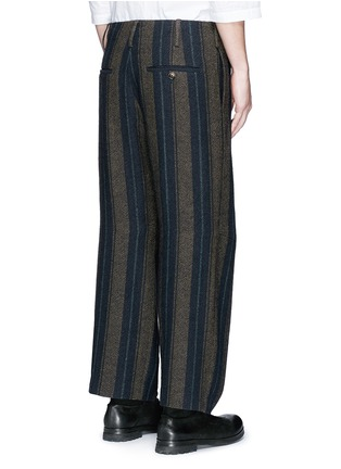Back View - Click To Enlarge - Uma Wang  - 'Cargo' relaxed fit stripe wool-linen pants