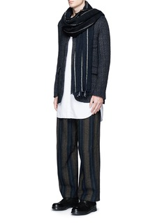 Uma Wang  'Cargo' relaxed fit stripe wool-linen pants