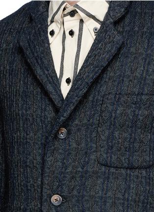 细节 - 点击放大 - UMA WANG  - TOMAS凹凸纹理混羊毛西服外套