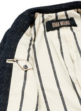 - UMA WANG  - TOMAS凹凸纹理混羊毛西服外套