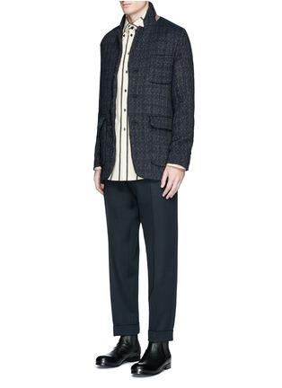 模特儿示范图 - 点击放大 - UMA WANG  - TOMAS凹凸纹理混羊毛西服外套