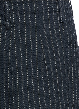 Detail View - Click To Enlarge - Uma Wang  - 'Osaka' stripe cotton-wool curved pants