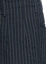 'Osaka' stripe cotton-wool curved pants