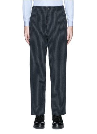 Main View - Click To Enlarge - Uma Wang  - 'Osaka' stripe cotton-wool curved pants