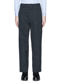 Uma Wang 'Osaka' stripe cotton-wool curved pants