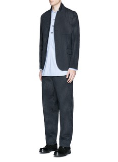 Uma Wang  'Osaka' stripe cotton-wool curved pants