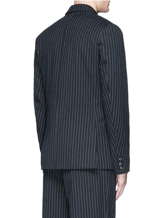 Back View - Click To Enlarge - Uma Wang  - 'Gabriele' stripe cotton-wool jacket
