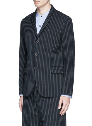Front View - Click To Enlarge - Uma Wang  - 'Gabriele' stripe cotton-wool jacket
