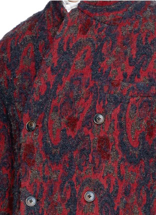 Detail View - Click To Enlarge - Uma Wang  - 'Richard' double breasted bouclé jacquard coat