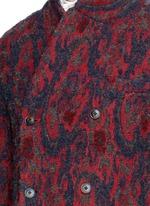 'Richard' double breasted bouclé jacquard coat