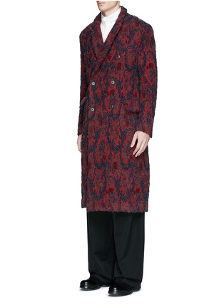 Front View - Click To Enlarge - Uma Wang  - 'Richard' double breasted bouclé jacquard coat