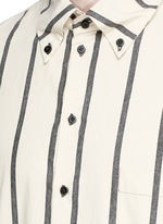'Tazio' stripe cotton shirt