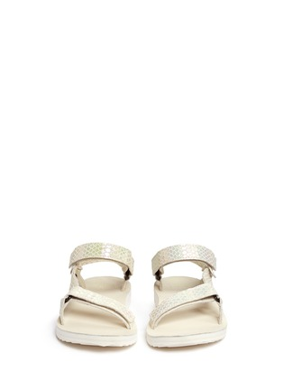 Teva-'Original Universal Iridescent' snakeskin embossed leather sandals