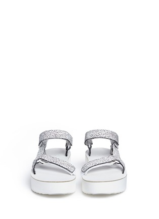 Front View - Click To Enlarge - Teva - 'Flatform Universal Crackle' leather sandals