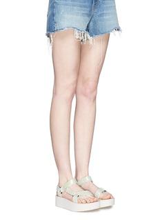 TEVA'Flatform Universal Iridescent' snakeskin embossed leather sandals